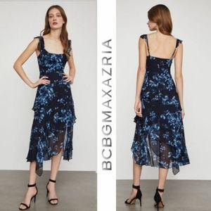 BCBGMaxAzria Divine Bloom Asymmetrical Dress